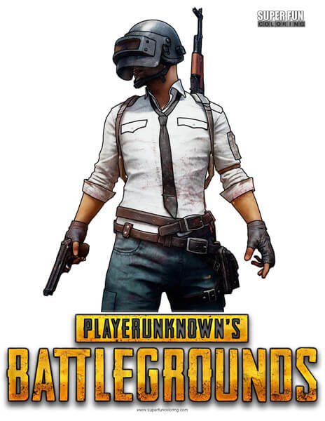 PUBG Coloring Page Player Unknown's Battlegrounds