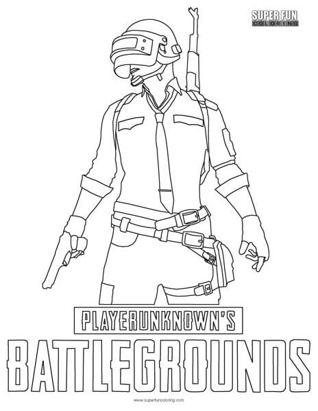 Pubg Coloring Page Super Fun Coloring