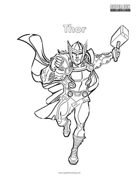 Thor Coloring Page Super Fun Coloring