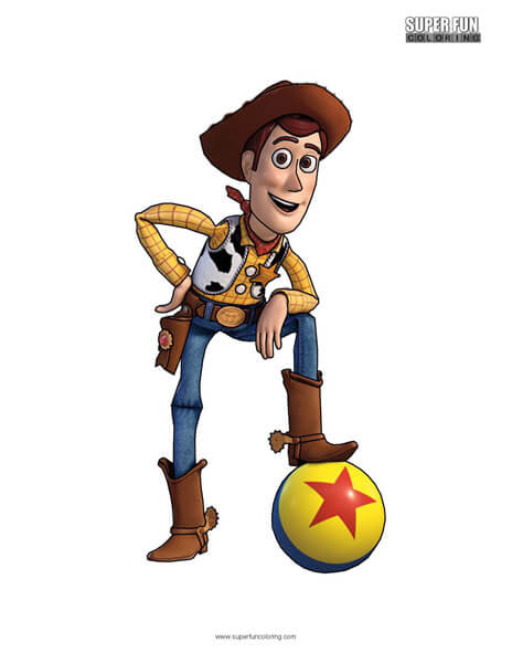 Woody- Toy Story  Coloring Page Disney