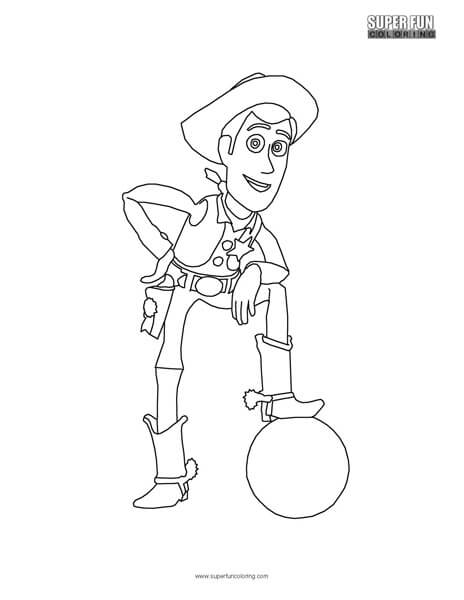 Woody Toy Story Coloring Page Super Fun Coloring