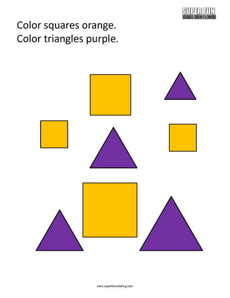 Basic Shapes Coloring Page Free