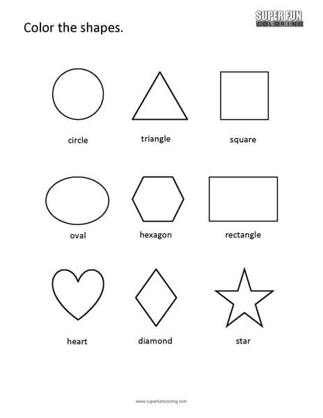 Basic shapes coloring pages ~ Basic Shapes 9 - Super Fun Coloring