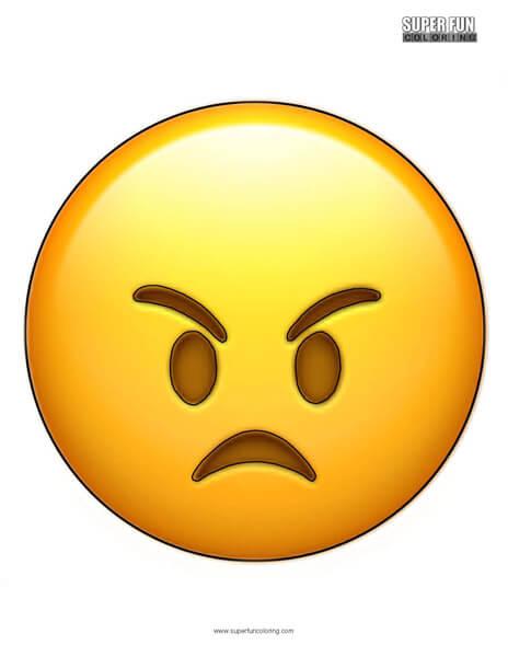 Angry Emoji Coloring Sheet
