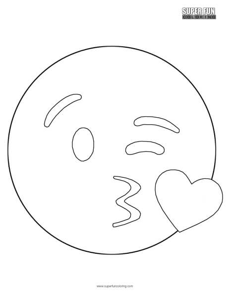 Kissing Emoji Coloring Sheet Super Fun Coloring