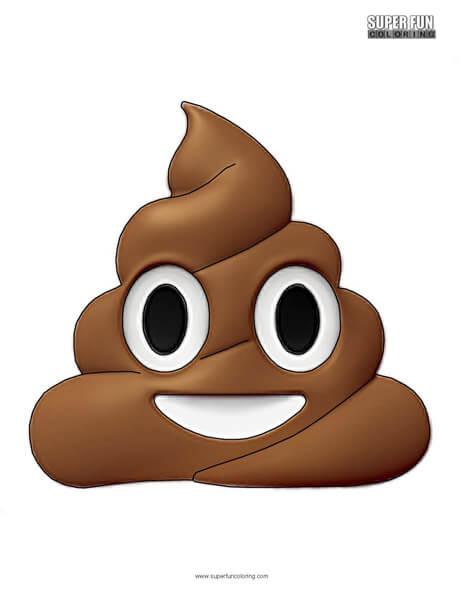 Poop Emoji Coloring Sheet