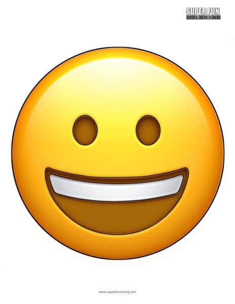 Smiling Face Emoji Coloring Sheet
