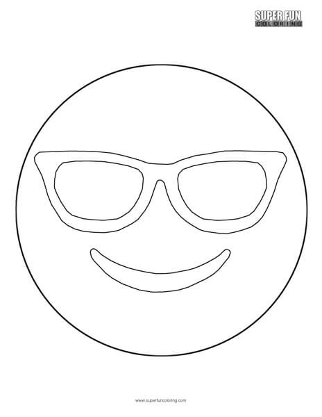 Sunglasses Emoji Coloring Sheet Super Fun Coloring