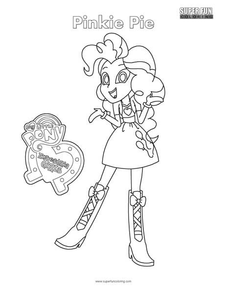 equestria girls pinkie pie coloring page super fun coloring