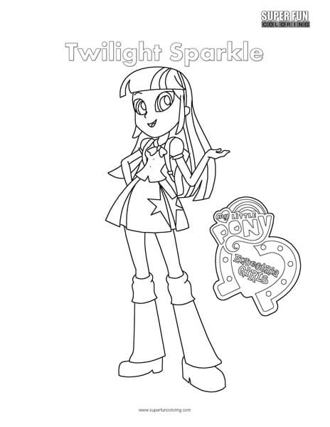 Equestria girls twilight sparkle coloring pages ~ Equestria Girls- Twilight Sparkle Coloring Page - Super ...