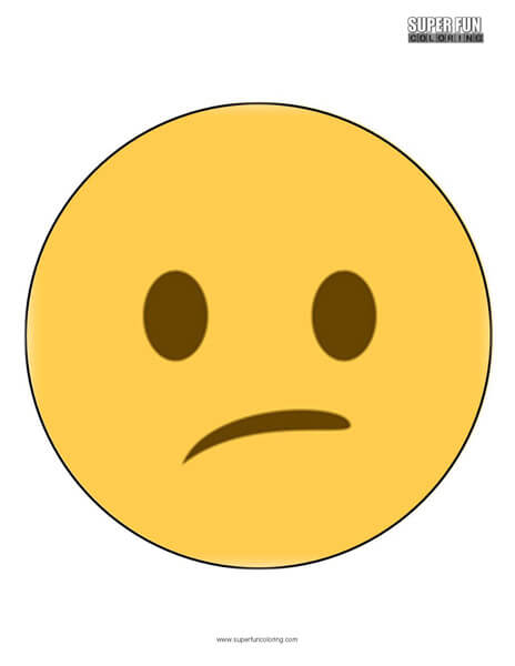 Twitter Confused Face Emoji Coloring