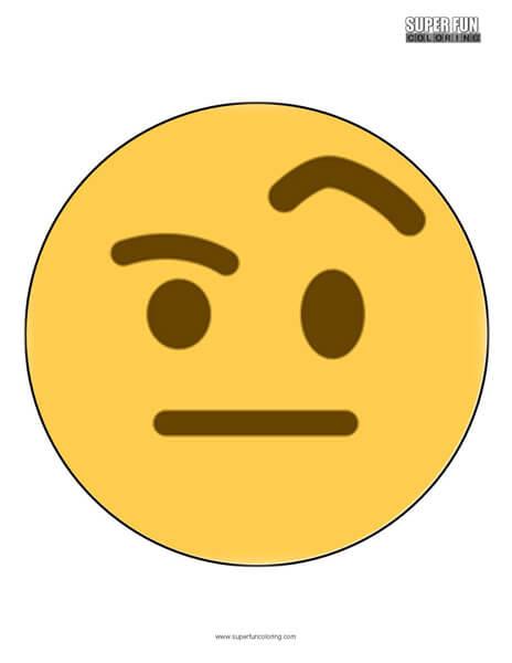 Twitter Raised Eyebrow Emoji Coloring