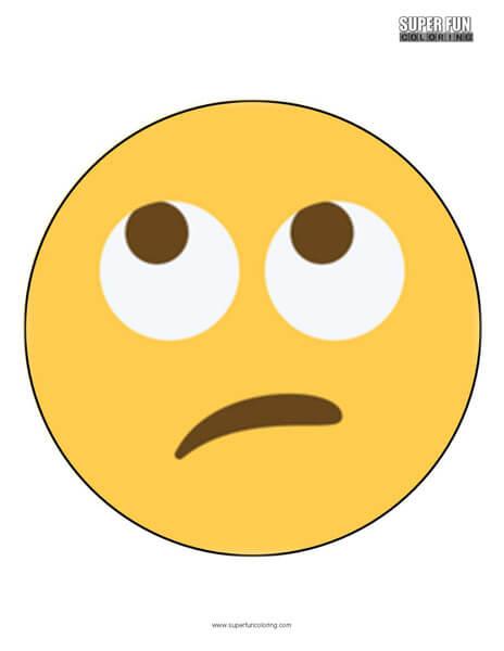 Twitter Rolling Eyes Emoji Coloring