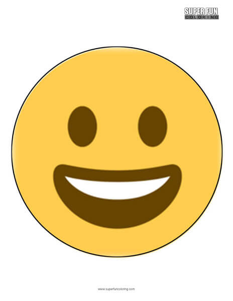 Twitter Smiling Faces Emoji Coloring