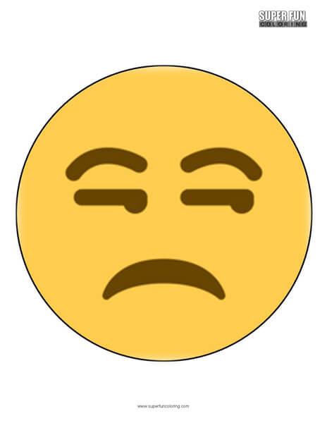 Twitter Unamused Face Emoji Coloring