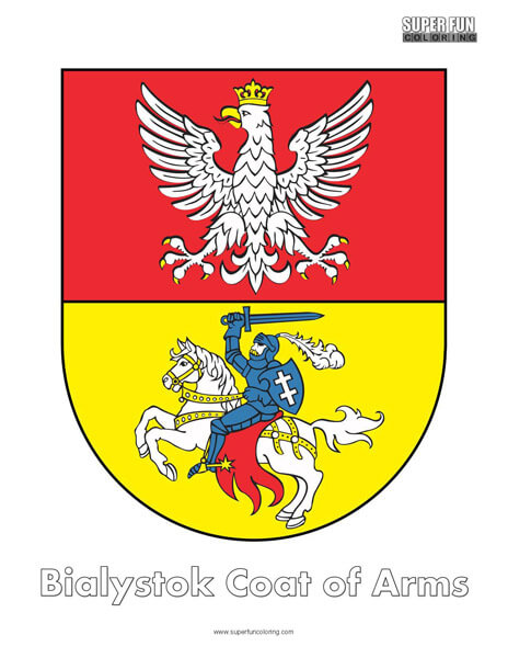 Bialystok Coat of Arms Coloring