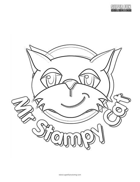 stampy coloring pages Mr. Stampy Cat Coloring Page   Super Fun Coloring stampy coloring pages