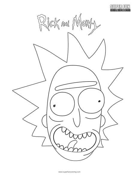 Rick Rick and Morty Coloring Page