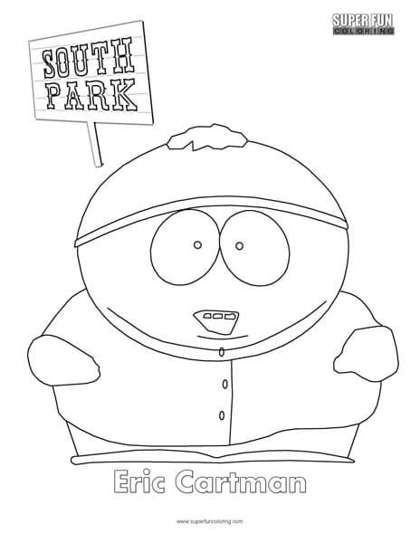 Eric Cartman- South Park Coloring Page - Super Fun Coloring