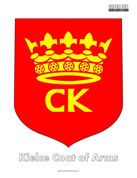 Kielce Coat of Arms Coloring