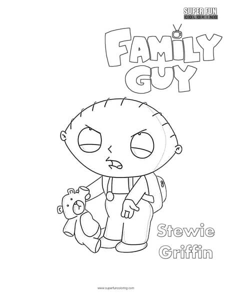 Stewie- Family Guy Coloring Page - Super Fun Coloring