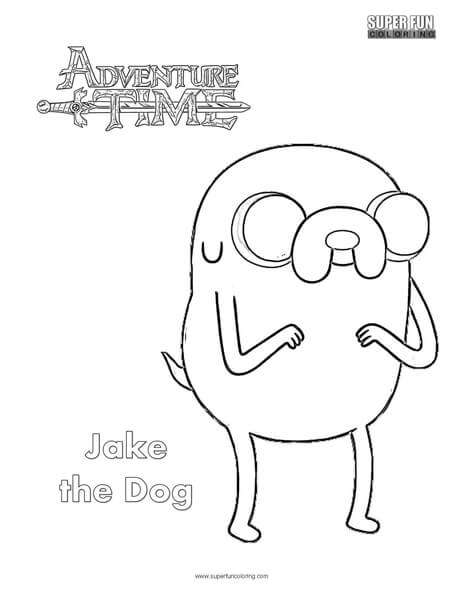 Jake The Dog Adventure Time Coloring Page Super Fun Coloring
