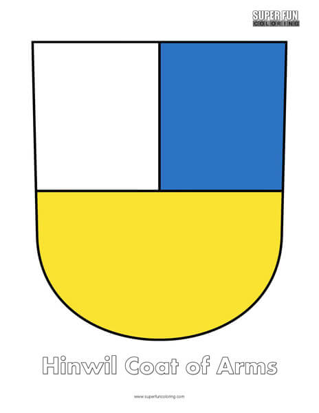 Hinwil Coat of Arms Coloring
