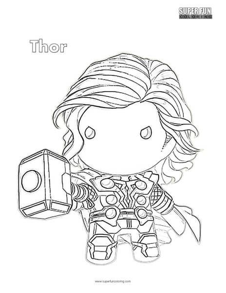 Cute Thor Coloring Page Super Fun Coloring
