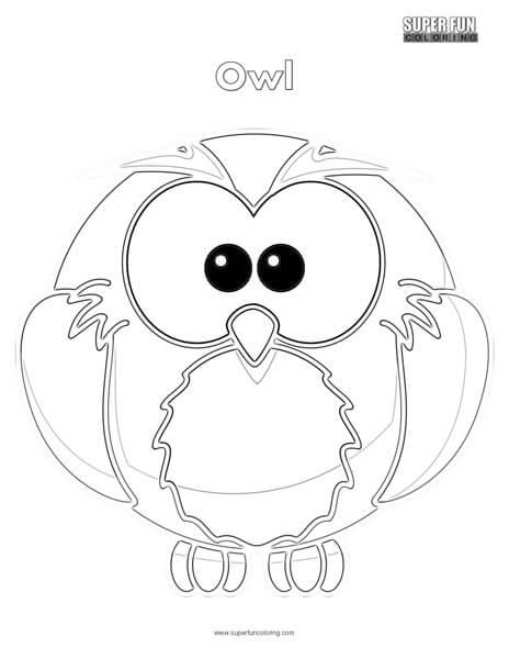 unique coloring pages owl cartoon - photo#10