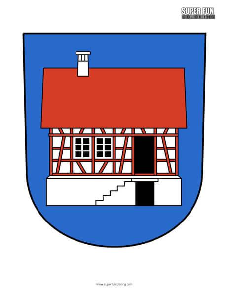 Hausen Albis Coat of Arms Coloring