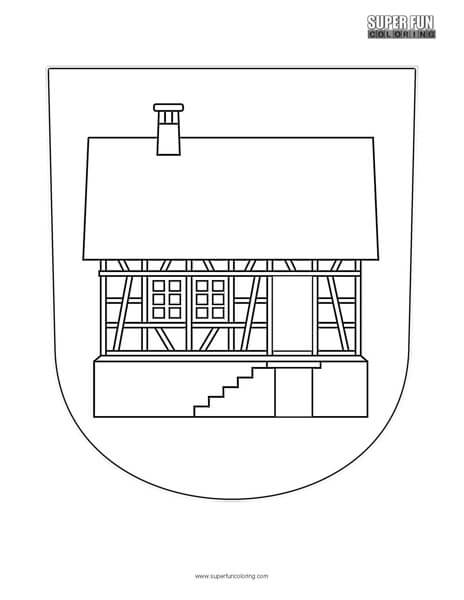 Hausen Albis Coat of Arms coloring page - Super Fun Coloring