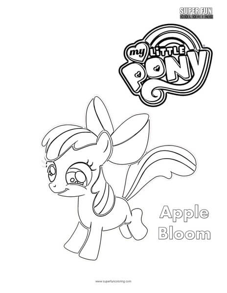 Apple Bloom My Little Pony Coloring Page