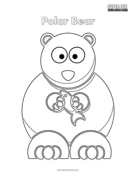 Cartoon Polar Bear Coloring Page Super Fun Coloring