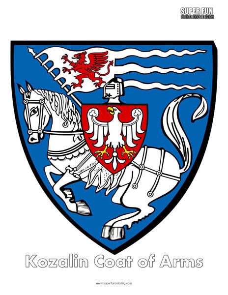 Kozalin Coat of Arms Coloring