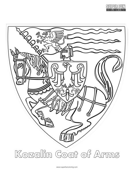 Coat Of Arms Coloring Super Fun Coloring