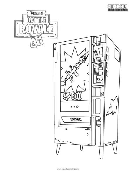 Fortnite Vending Machine Coloring Page