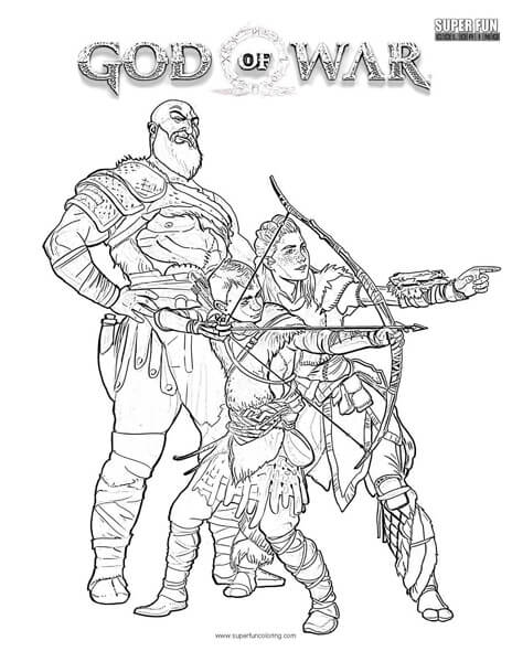 God of War Coloring Page Super