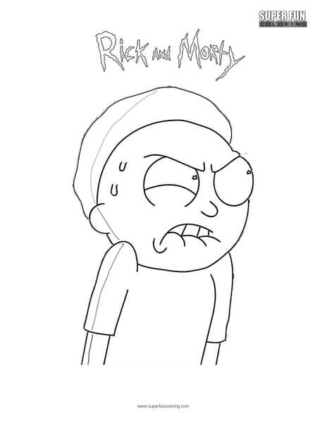 Morty Rick And Coloring Page