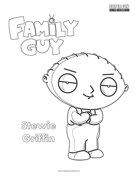 Stewie Griffin- Family Guy Coloring Page - Super Fun Coloring
