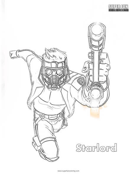 star lord coloring pages Starlord Coloring Page   Super Fun Coloring star lord coloring pages