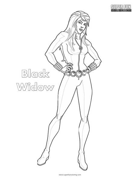 Black Widow Coloring Page - Super Fun Coloring