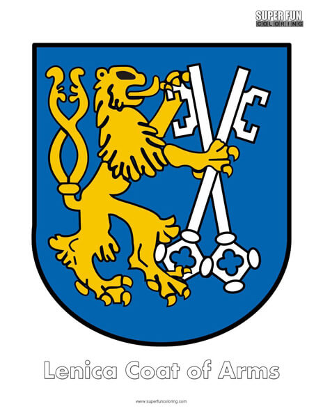 Lenica Coat of Arms Coloring