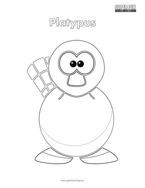 Cartoon Platypus Coloring Page Super Fun Coloring