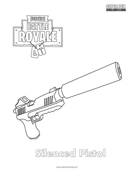 Fortnite gun coloring pages images for Shotgun coloring pages