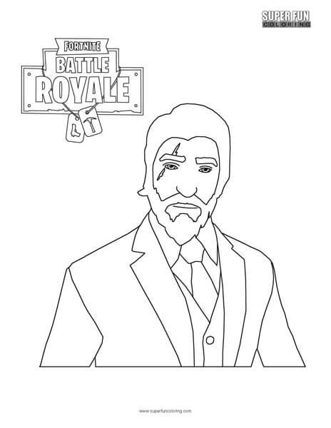 Reaper Skin Fortnite Coloring Page