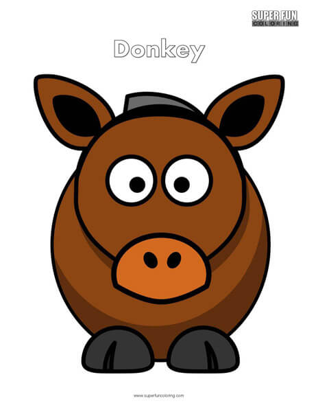 Cartoon Donkey Coloring Page Free
