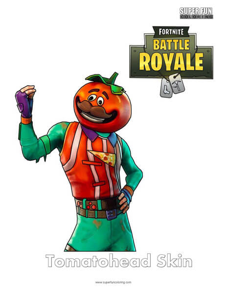 Fortnite Coloring Pages Super