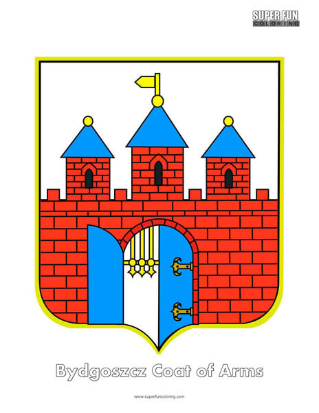 Bydgosczcz Coat of Arms Coloring