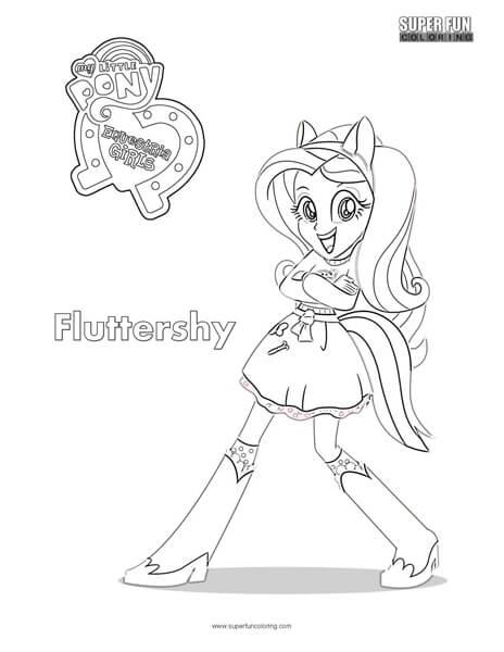 Fluttershy Eria S Coloring Sheet