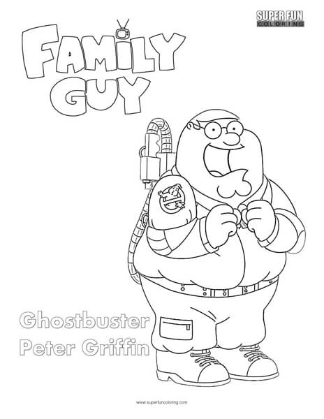 ghostbusters peter- family guy coloring page
